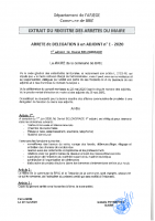 2020 Arrêtés délégations adjoints et conseillé délégué